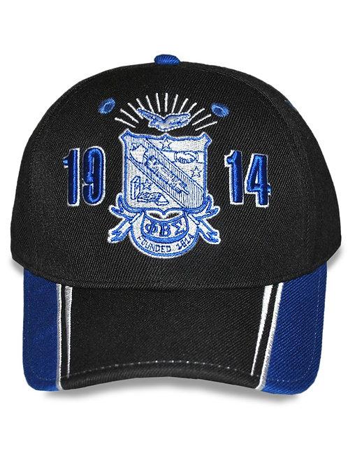 Phi Beta Sigma Shield Cap - Black
