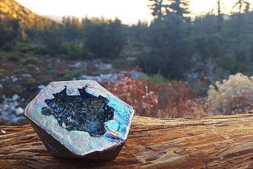 """Icosahedron Bismuth Geode- """"Cenote"""""""