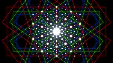 Phi RGB Quasi Crystal electron diffracti