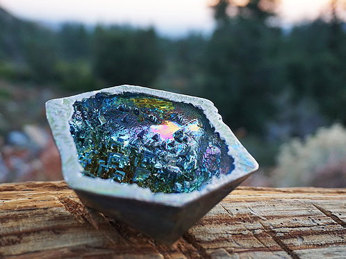 "Bismuth Icosahedron Geode- ""Strength"""
