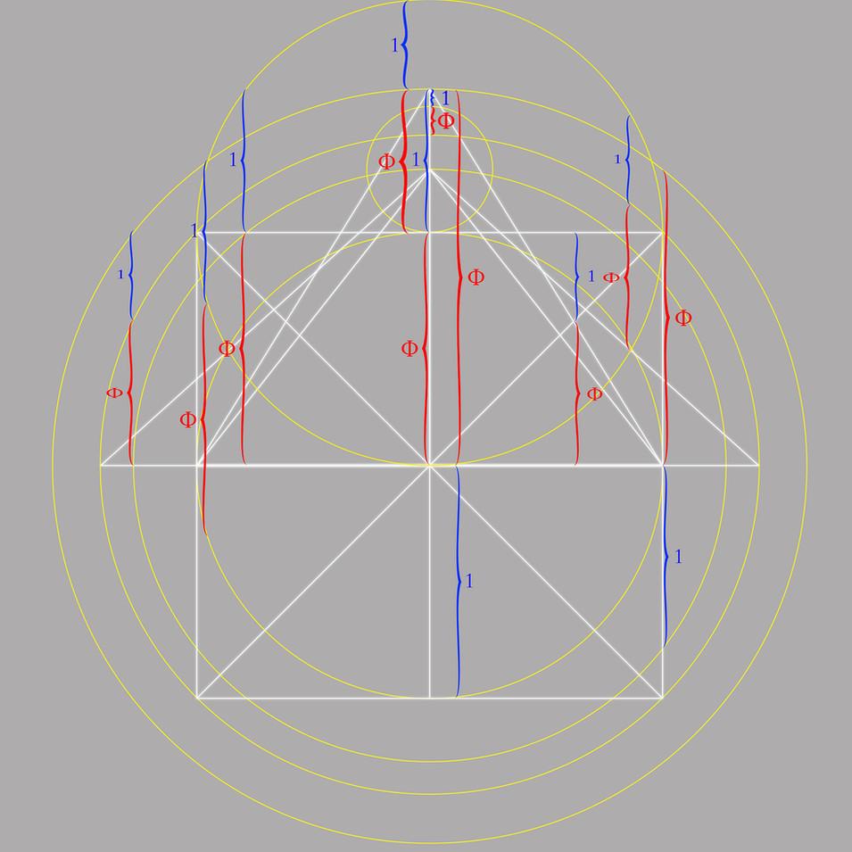 Phi - pyramid correspondent vertical