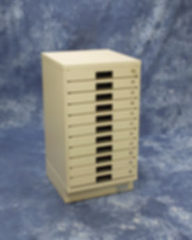 RELDOM Single Rack Solid Faced Chip Cabinet