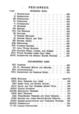 Dog breeds recognized by the English Kennel Club in 1874. Chart.