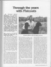 First Page of Wingover Flat Coated Retriever Interview, 1984