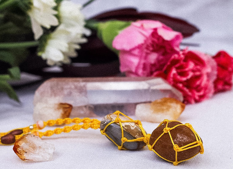 """""""Sunflower"""" Wrapped Crystal Necklace"""
