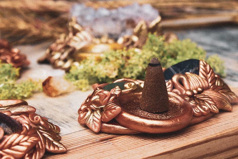 Golden Stick and Cone Incense Burner (2)