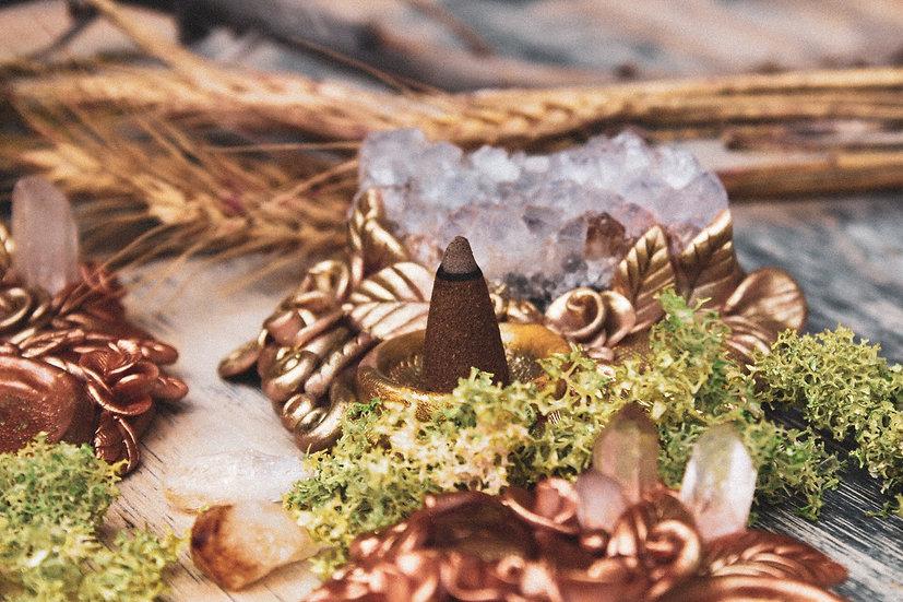 Amethyst Cone Incense Burner