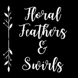Floral Feathers & Swirls