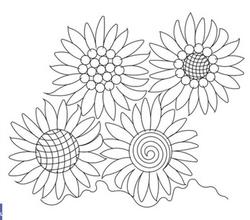 Sunflower E2E-Wasatch Quilting