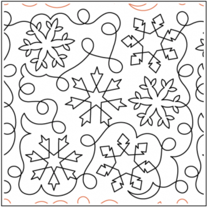 Deb's Snowflake Meander by Deb Geissler