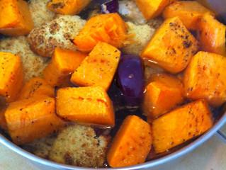 מרק דלעת וכרובית צלויות (6 מנות, כל המרק 240 קלוריות משומן)