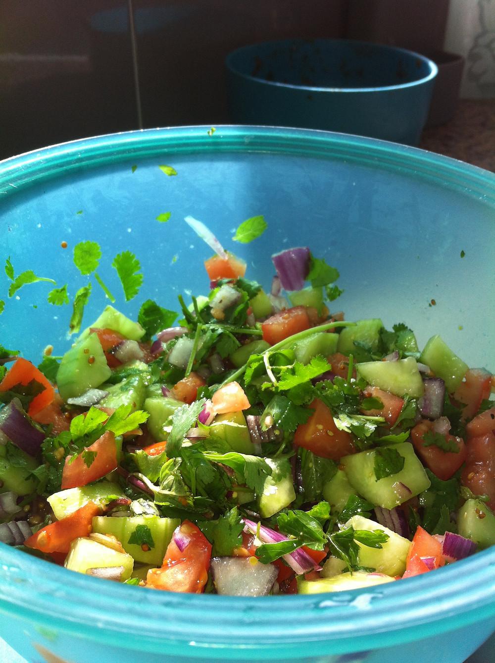 סלט ירקות דיאטטי