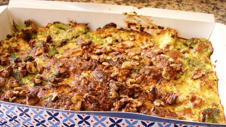 פשטידת ברוקולי וכרובית פרווה דיאטטית (6 מנות, כל מנה כ- 120 קלוריות)