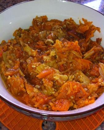תבשיל ירקות ברוטב עגבניות דיאטטי