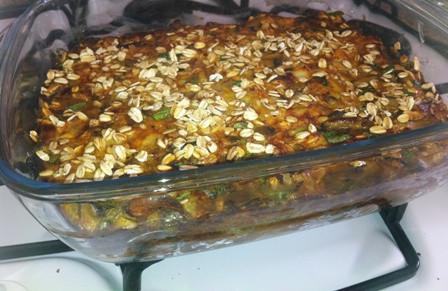 פשטידת פטריות פרווה (5 מנות, כל מנה כ-150 קלוריות)