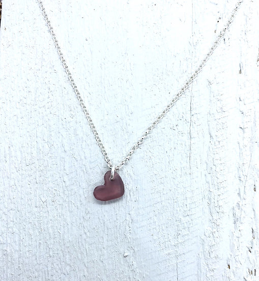 Pinky Purple Heart Necklace