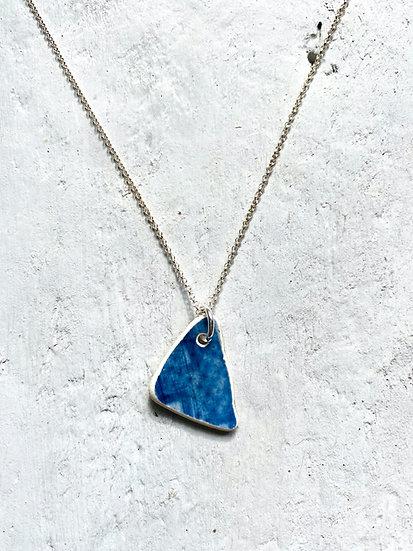 Blue Pattern Pottery Necklace
