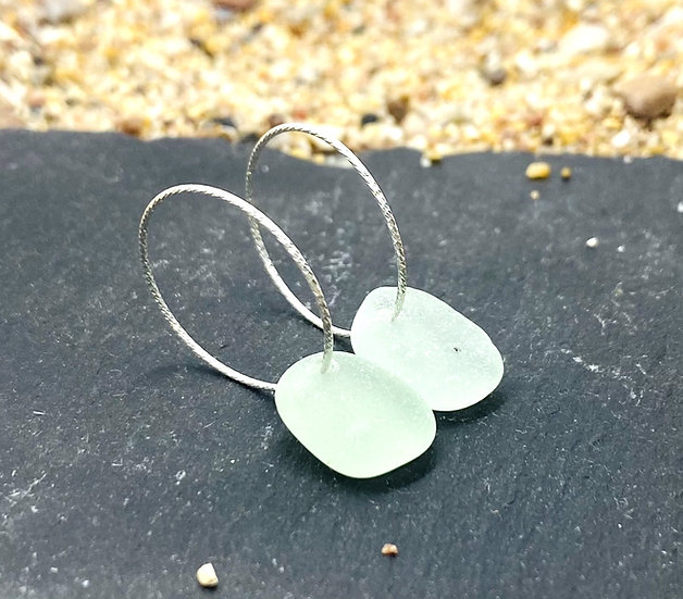 Sterling Silver Sparkle Hoops