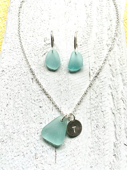 Hoops and Necklace Glass Set