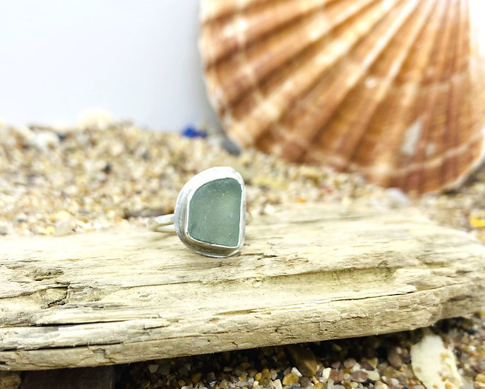Sea Glass Ring SIZE M