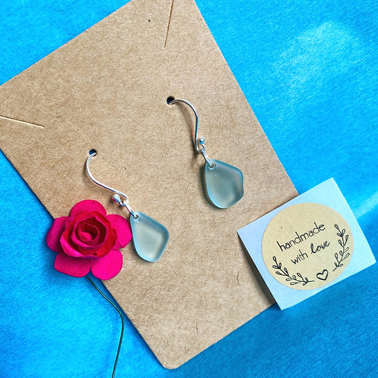 Dangle Sea Glass Earrings