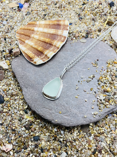 Sea Foam Sea Glass Necklace