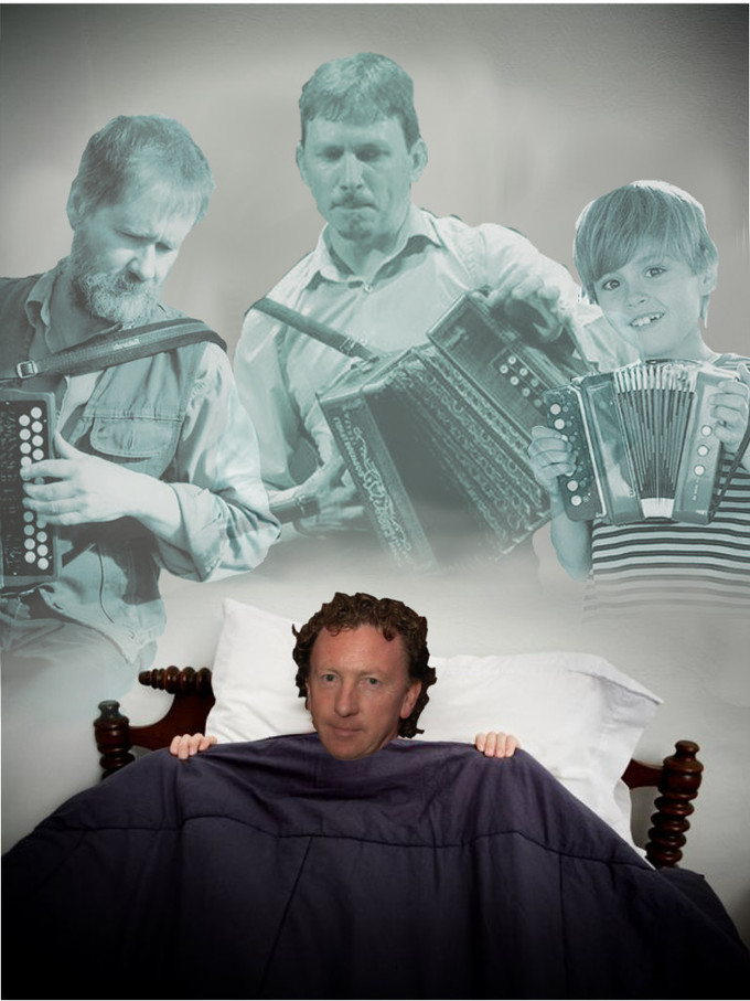 FRANKIE GAVIN VISITED BY GHOSTS OF DE DANANN ACCORDION PLAYERS PAST, PRESENT AND FUTURE