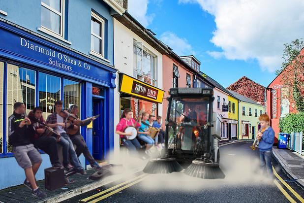 Road sweeper clears bucking kid from Sligo street after Fleadh