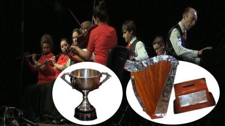 Senior ceili band winners go aways with crap trophies
