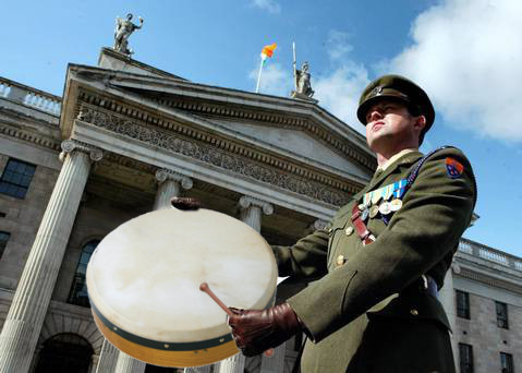 Bodhran player marches on GPO