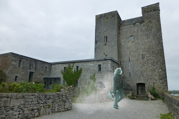 APPARITION OF WHITE-HAIRED BOUZOUKI PLAYER SEEN ROAMING GROUNDS OF ORANMORE CASTLE