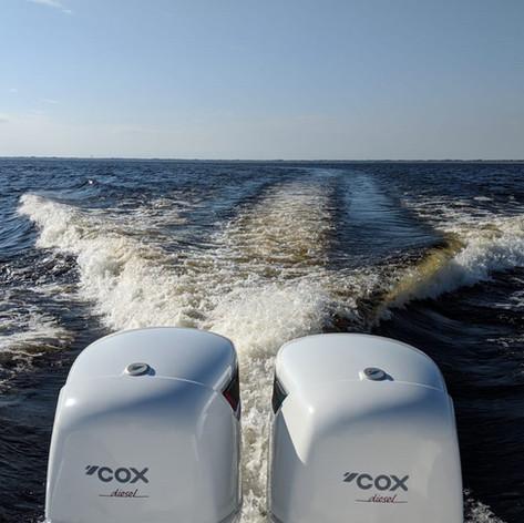 Twin white CXO300 in the Sea