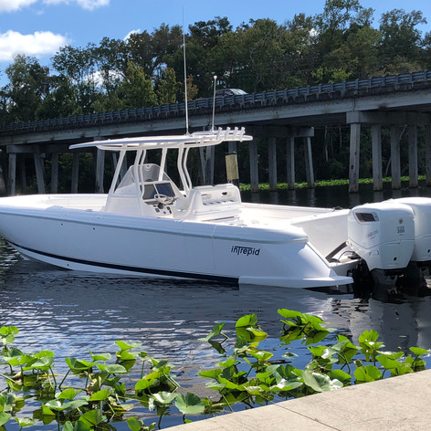 Docked and ready in the Miami Boat show