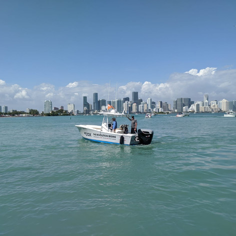 Testing the CXO300 in the Miami International Boat show