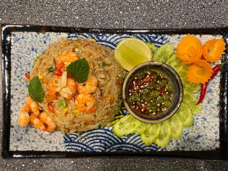 Khao Pad Gung - gebratener Reis mit Garnelen
