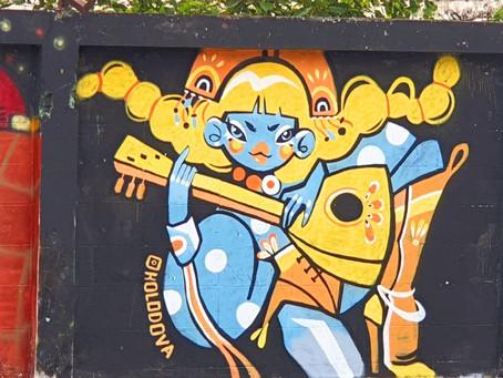 StreetArt auf einem Geisterparkplatz in BKK