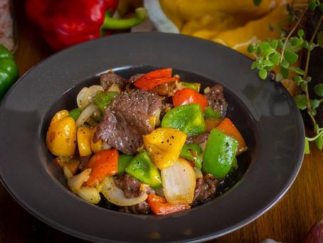 StirFry mit Rindfleisch und Gemüse - Pad Pak Nuea