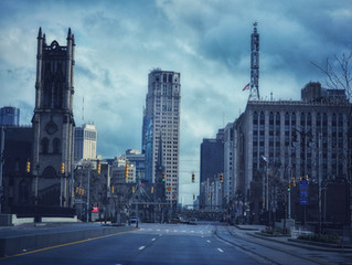Photo journey down barren streets of Detroit during stay-at-home order