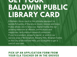 Students Get Baldwin Library Card