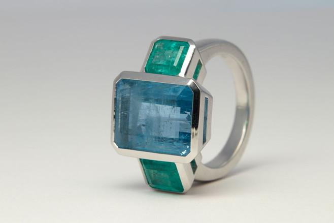 Aqua - Smaragd Ring
