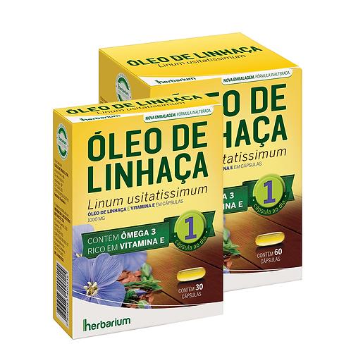 ÓLEO DE LINHAÇA 1000mg 60 Cápsulas - Herbarium