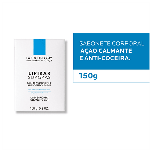 LIPIKAR SURGRAS SABONETE BARRA 150g -  La Roche-Posay