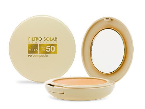 ADCOS FILTRO SOLAR TONALIZANTE PÓ COMPACTO FPS50 11g