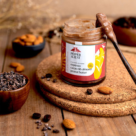 espresso cacao nib almond peanut butter