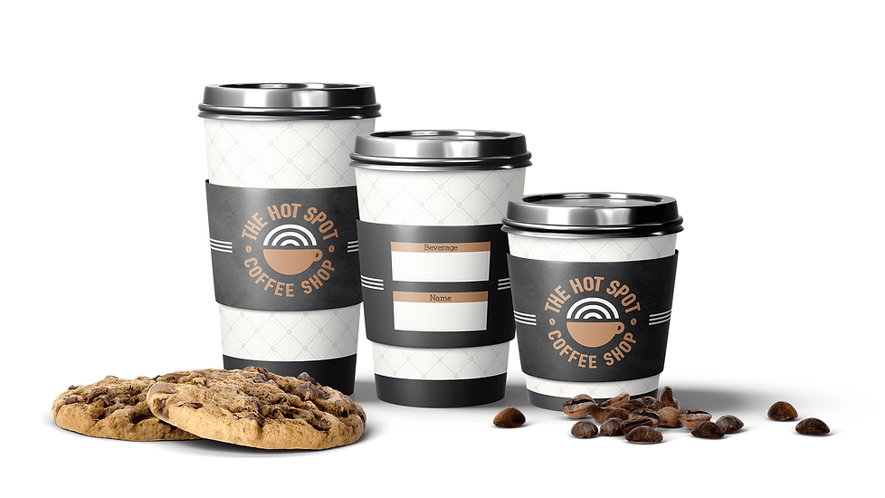 The Hot Spot Coffee Shop Packaging Design Coffee Cups Graphic Design Jake Bryant Creative