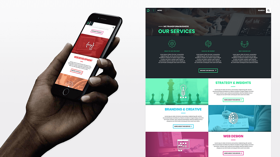 In The Digital Responsive Services Pages Web Design Graphic Design Jake Bryant Creative