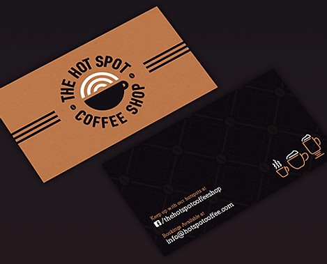 The Hot Spot Coffee Shop Business Card Designs Graphic Design Jake Bryant Creative
