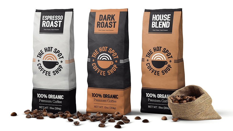 The Hot Spot Coffee Shop Packaging Designs Graphic Design Jake Bryant Creative