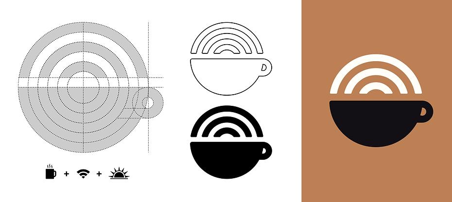 The Hot Spot Coffee Shop Logo Development Graphic Design Jake Bryant Creative