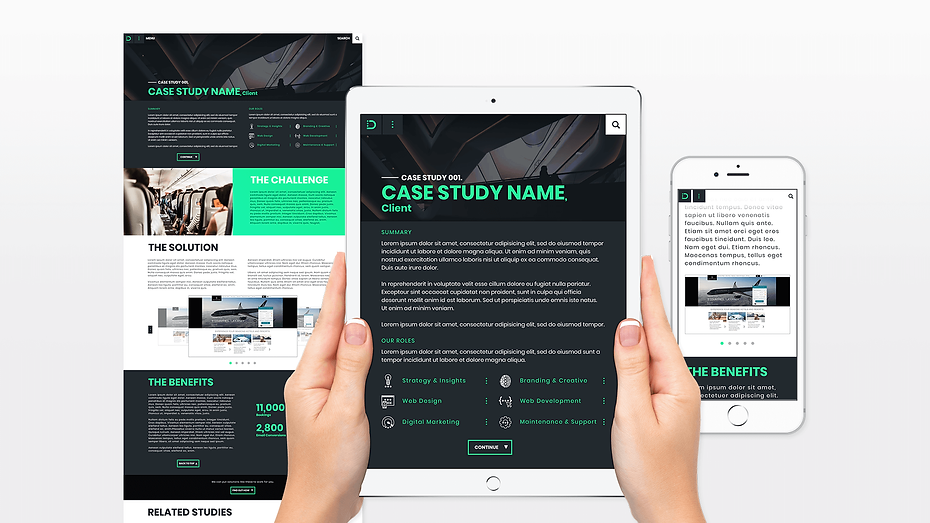 In The Digital Responsive Case Study Page Web Design Graphic Design Jake Bryant Creative